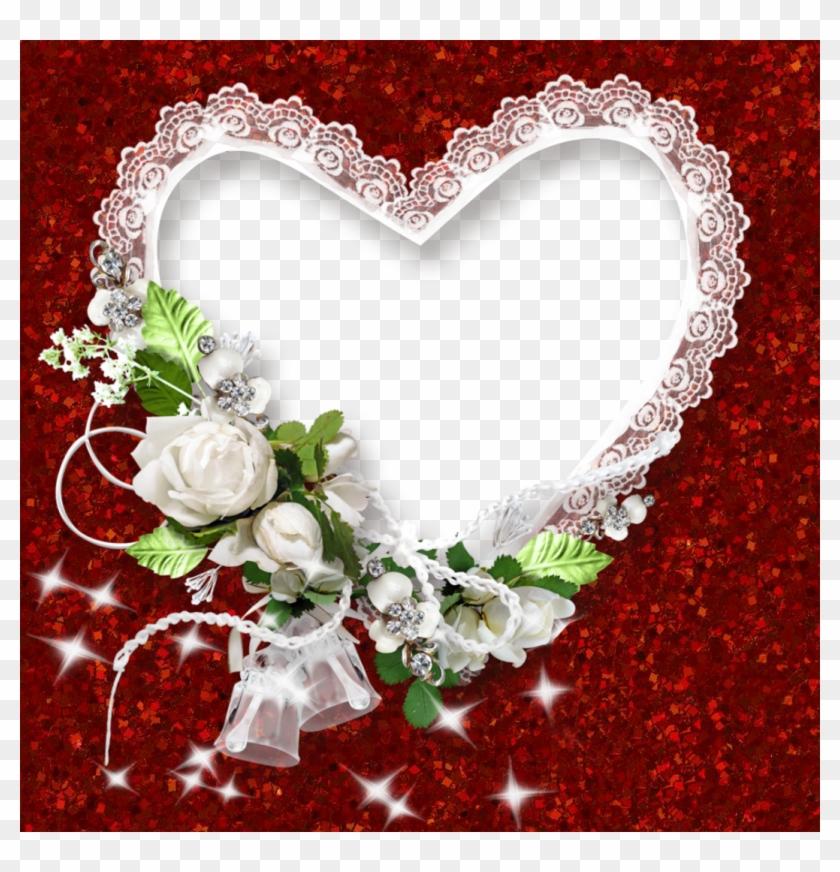 0, - Heart Shape Frame Png #827731