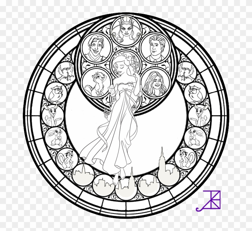 Stained Glass Color Sheets Nightmare Before Christmas Adult Coloring Page Free Transparent Png Clipart Images Download