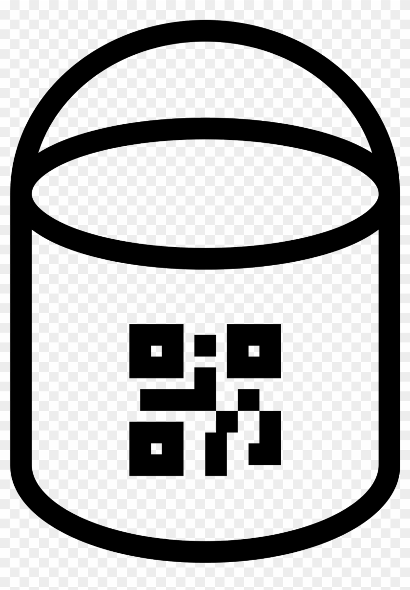 Paint Bucket With Qr Icon - Draw A Paint Bucket #828680