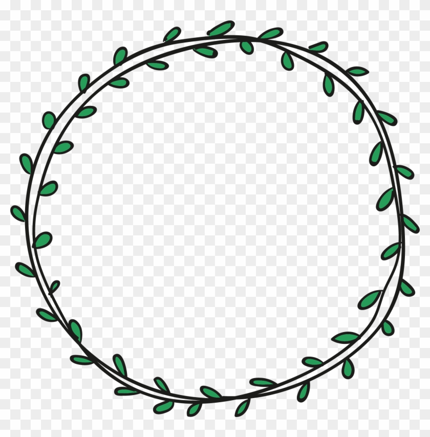 Scalable Vector Graphics - Circle Leaf Border Png #829092