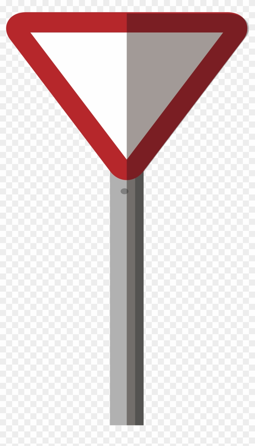 Red Border Triangle Road Sign - Traffic Sign #829145
