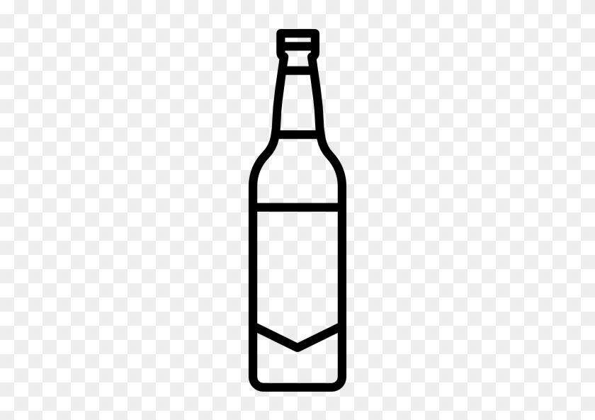 Drinks And Food Icon - Beer Bottle Clipart - Free