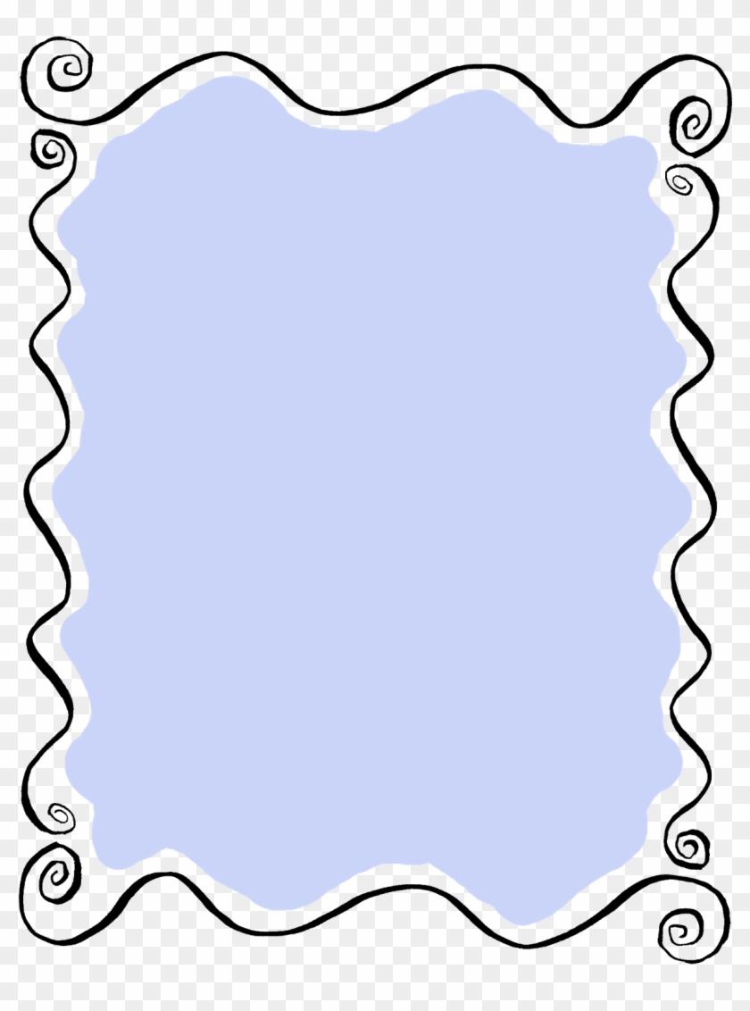 label frame doodle wavy art lines printable digital - swirl