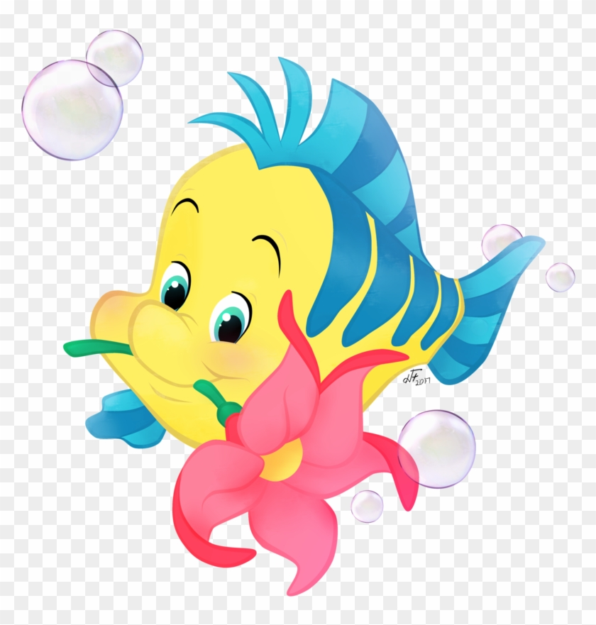 flounder ariel sebastian king triton mermaid flounder little