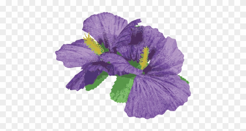 Contact Sancto 2 Purple Hibiscus Flowers Hair Clips Accessory