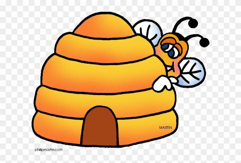 Beehive Gallery For Bee Hive Clip Art Image - Honey Bee Hive Clip Art #830293