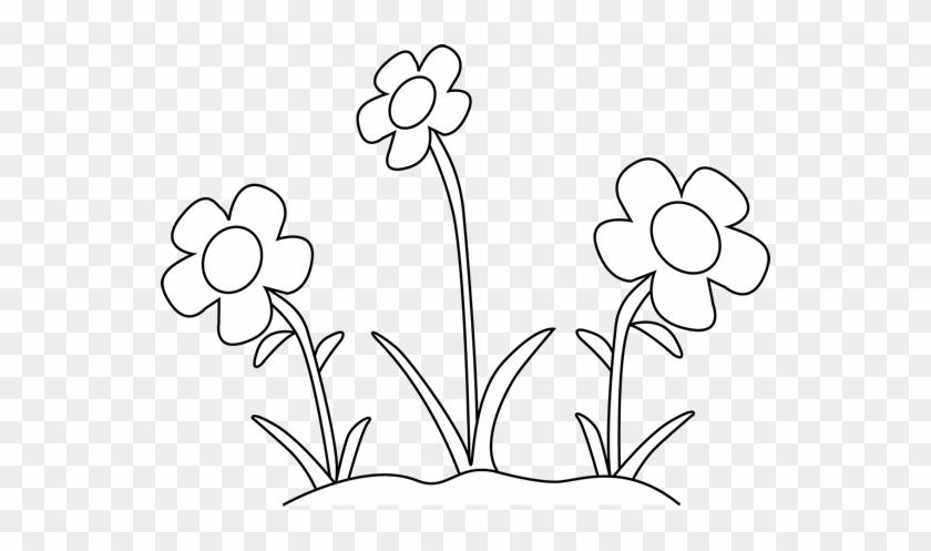 White Flower Clipart Black N White Black And White Flower Clipart