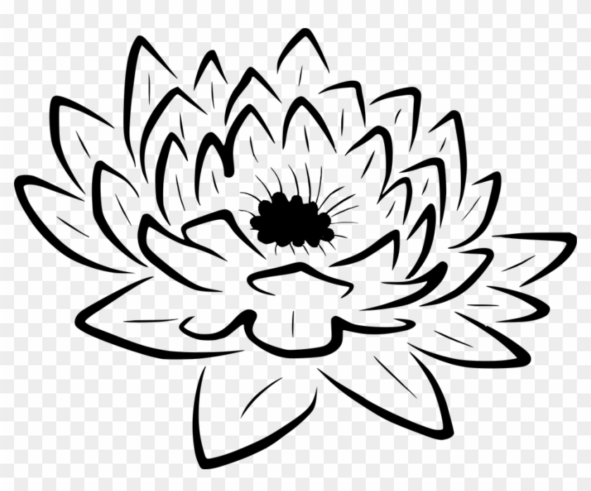 Collection Of Lotus Flower Outline Leuke Plaatjes Zwart Wit Free