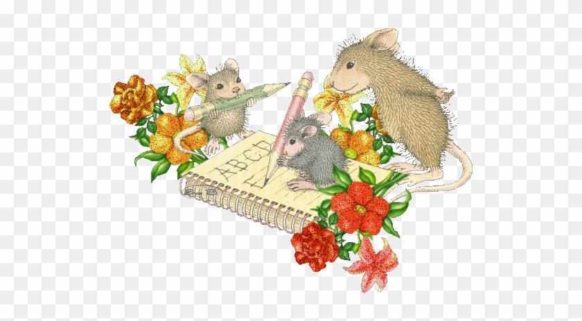 Alphabet - - Mice Penmanship Rectangle Magnet #830528