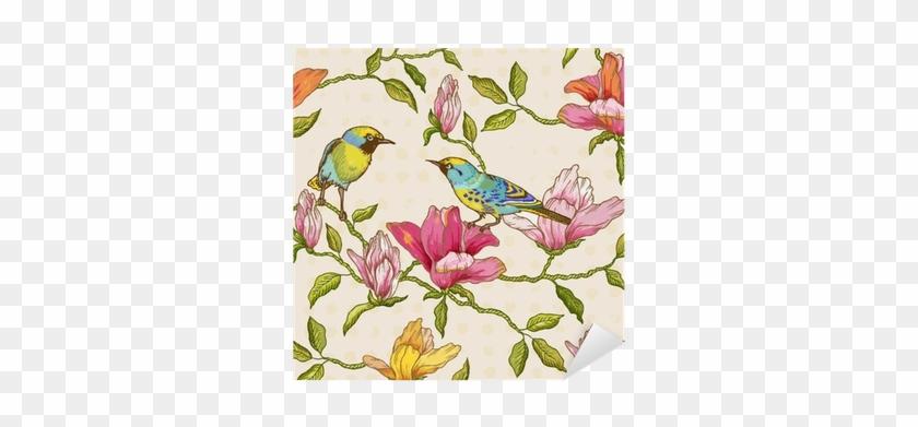 Vintage Seamless Background - Cumberland Blue Bird Notebook Casebound A5 100 Leaf #831790
