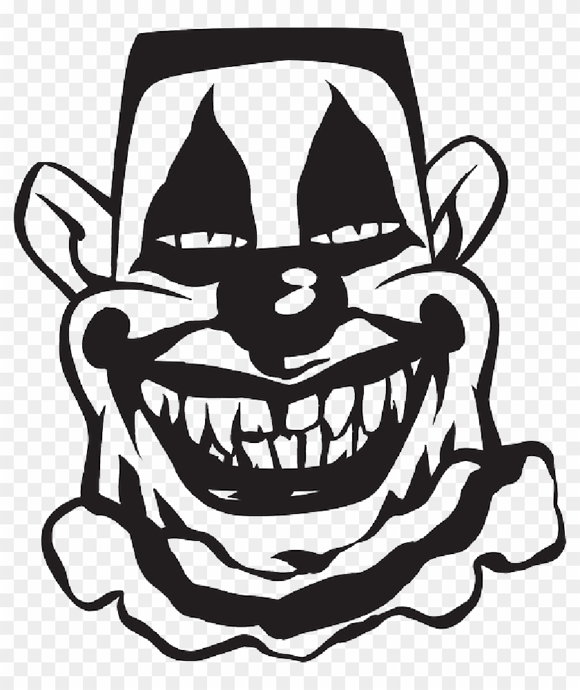 Creepy Smile Cliparts Scary Clown Clipart Black And White Free