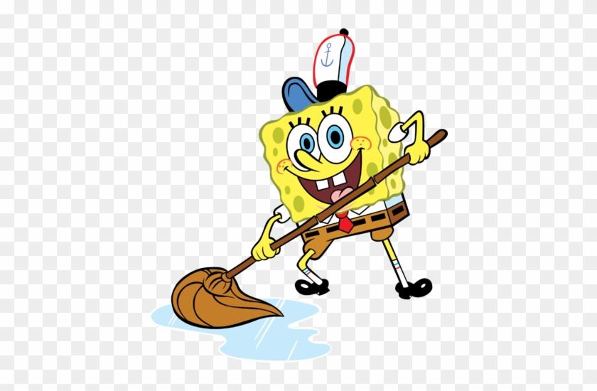 unique cartoon sweeping floor spongebob mops the floor sweep the floor transparent free transparent png clipart images download unique cartoon sweeping floor spongebob