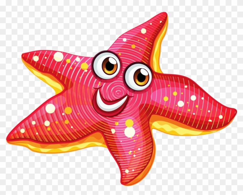 Explore Under The Sea, Clip Art, And More - Clip Art Of Starfish #833053