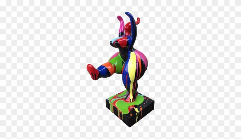 Statue Femme Ronde Nana Bras Leves 55cm Design Splash - Sculpture Design Femme Ronde #833112