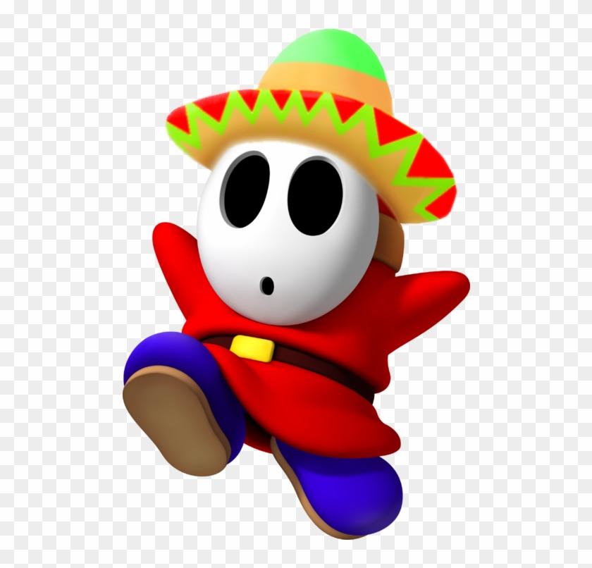 3d Sombrero Guy By Boygeymario - Mario Kart Red Character #833697