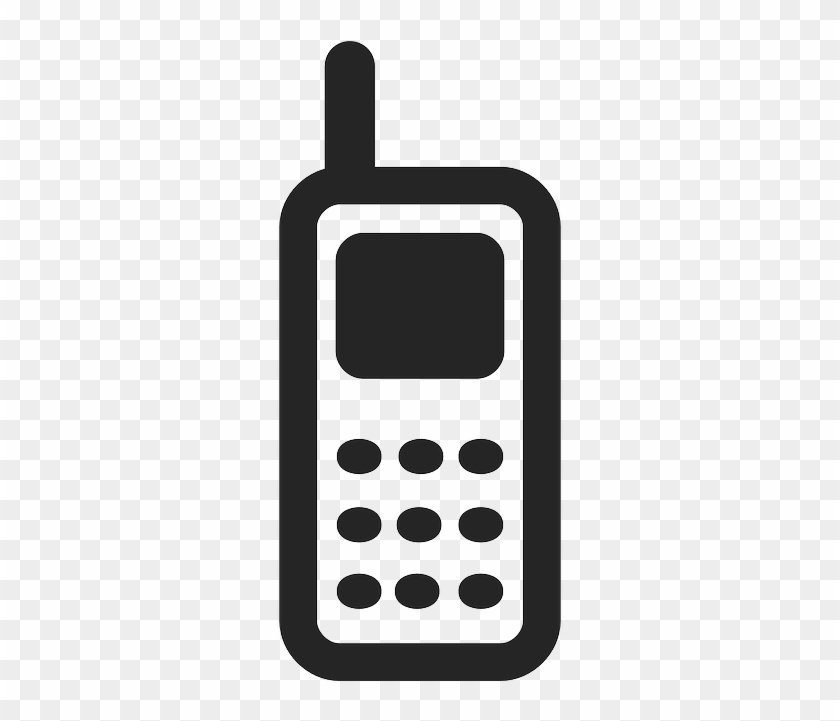 Cell Mobile, Phone, Cell - Mobile Phone Icon Vector Png #834923