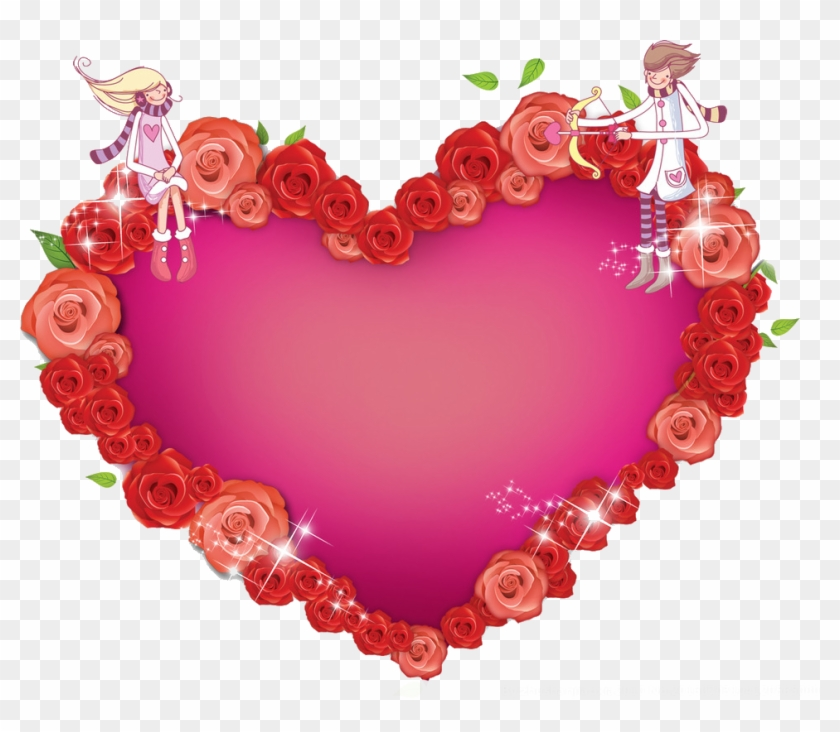 Heart Valentines Day - Heart Photo Frame Png #834964