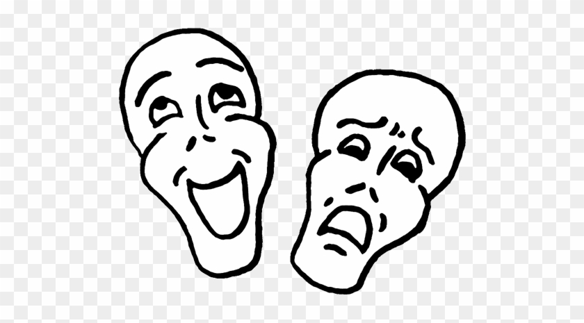 Comedy Tragedy Masks Clip Art Comedy And Tragedy 1kkzyi - Comedy Clip Art #835285