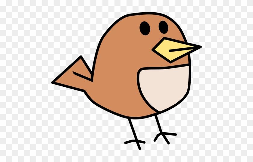 Vector Clip Art Of Small Brown Tweeting Bird - 512 X 512 Png #836273