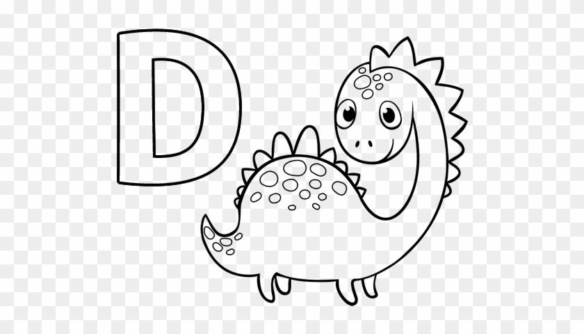 Dibujo Del Abecedario Dibujos Con La Letra D Para Colorear Free