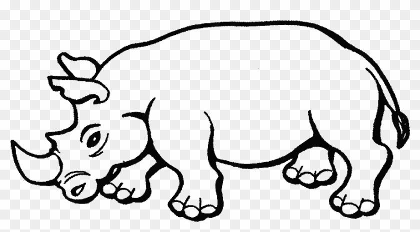 Animales Salvajes Para Colorear - Rhino Coloring Pages - Free ...