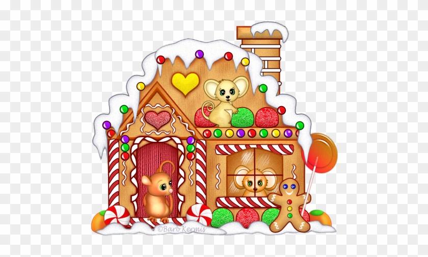 Seasonal » Christmas » Mice Gingerbread House - Gingerbread House #837091