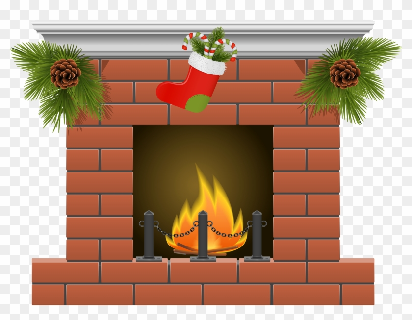 Christmas Fireplace Clipart - Free Transparent PNG Clipart ...