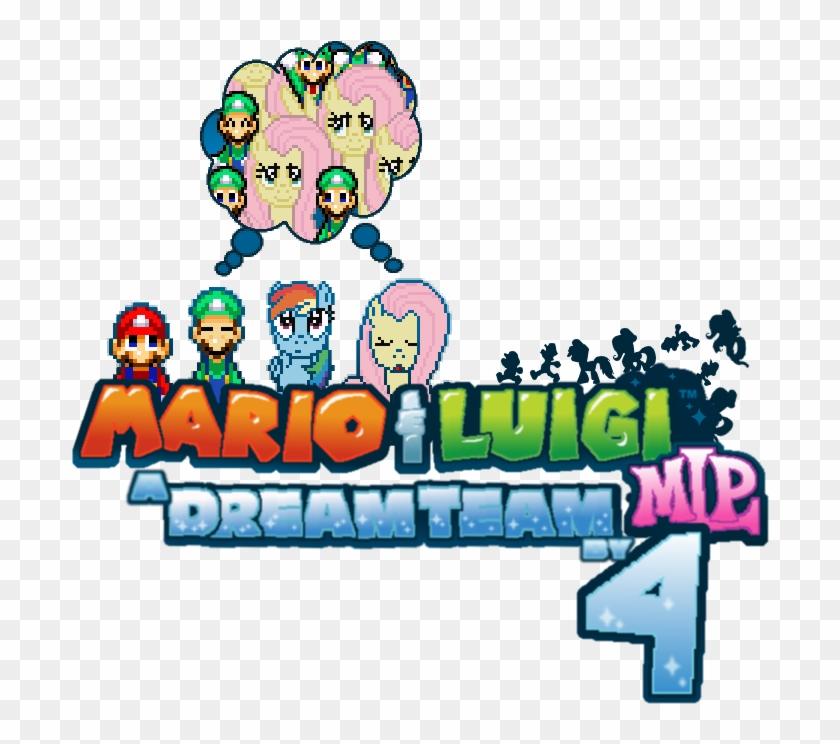 Mario And Luigi Mlp A Dream Team By 4 Logo By Icelucario20xx
