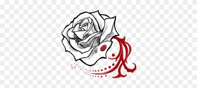 Blood Rose By Hisuikaihane On Deviantart Rose With Blood Drawing