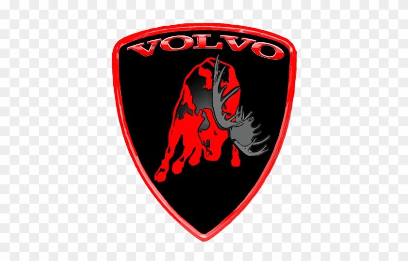 """Moose Sticker S """"3d"""" - Volvo Sticker Red #839819"""