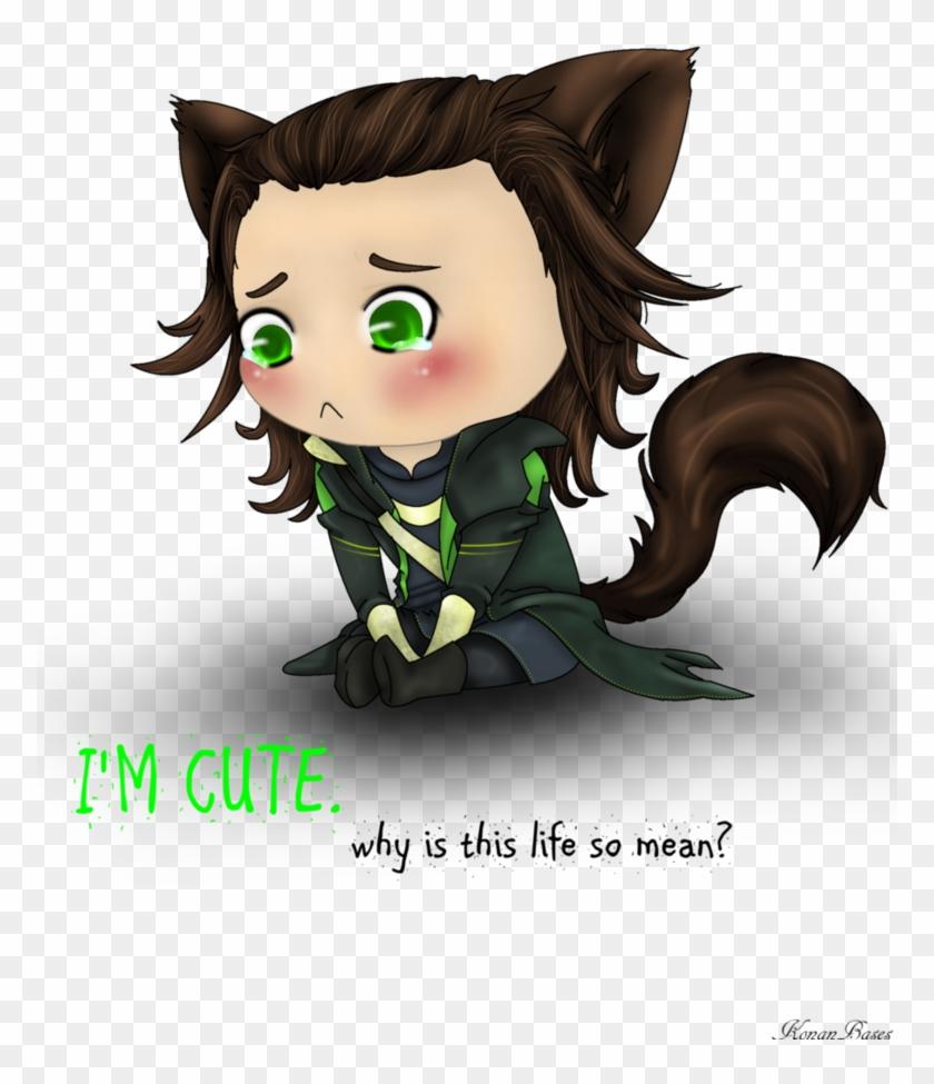 Im Cute By Konanbases - Thor Loki Cute Anime #839888