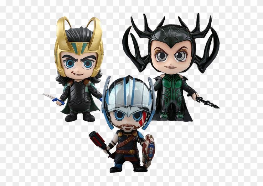 Marvel - Thor - Ragnarok - Gladiator Thor, Loki & Hela - Thor Ragnarok Cosbaby #839947
