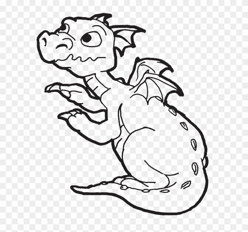 A New Born Baby Dragon Coloring Pages - Easy Dragon Coloring #840029
