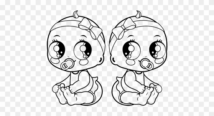 baby girl coloring pages Female Twins Coloring Page   Baby Girl Coloring Pages   Free  baby girl coloring pages