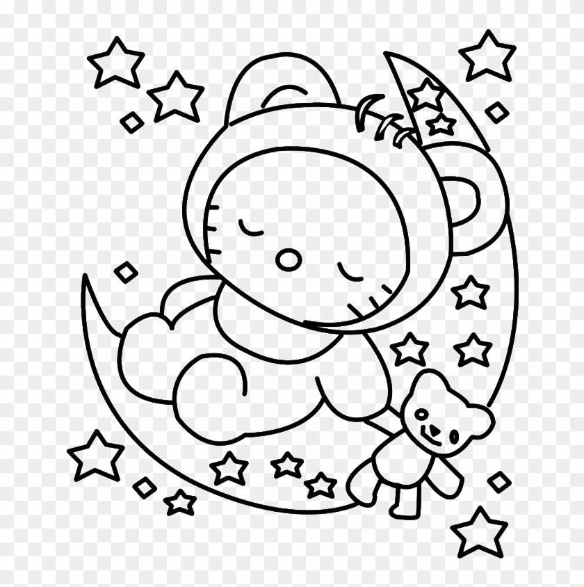 Hello Kitty Sleeping Colouring Pages - Best Hello Kitty Coloring Pages #840093