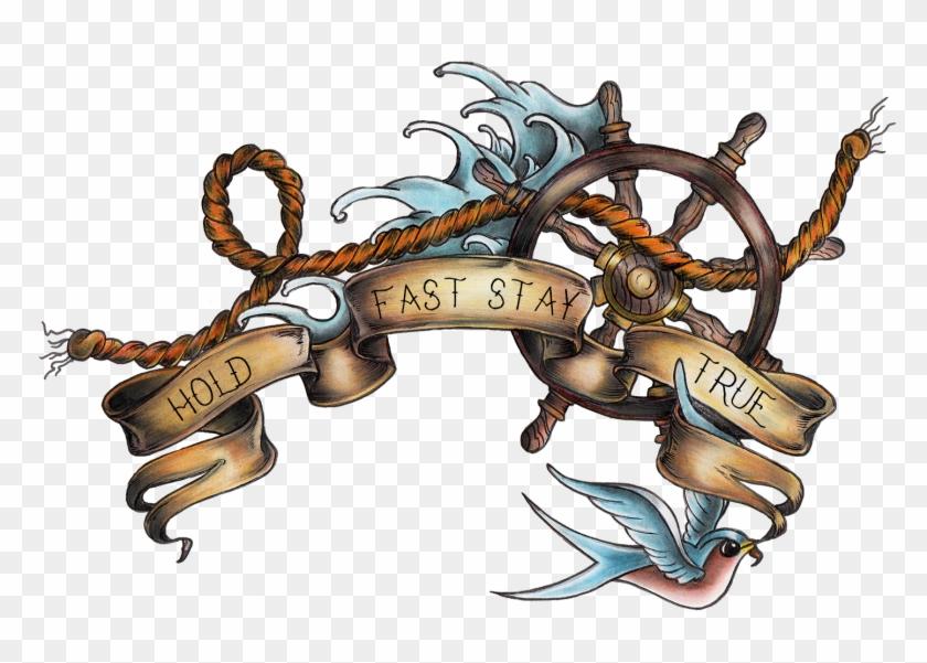 Old School Ship Wheel Tattoo Download - Nautical Ship Tattoo Old School #840128