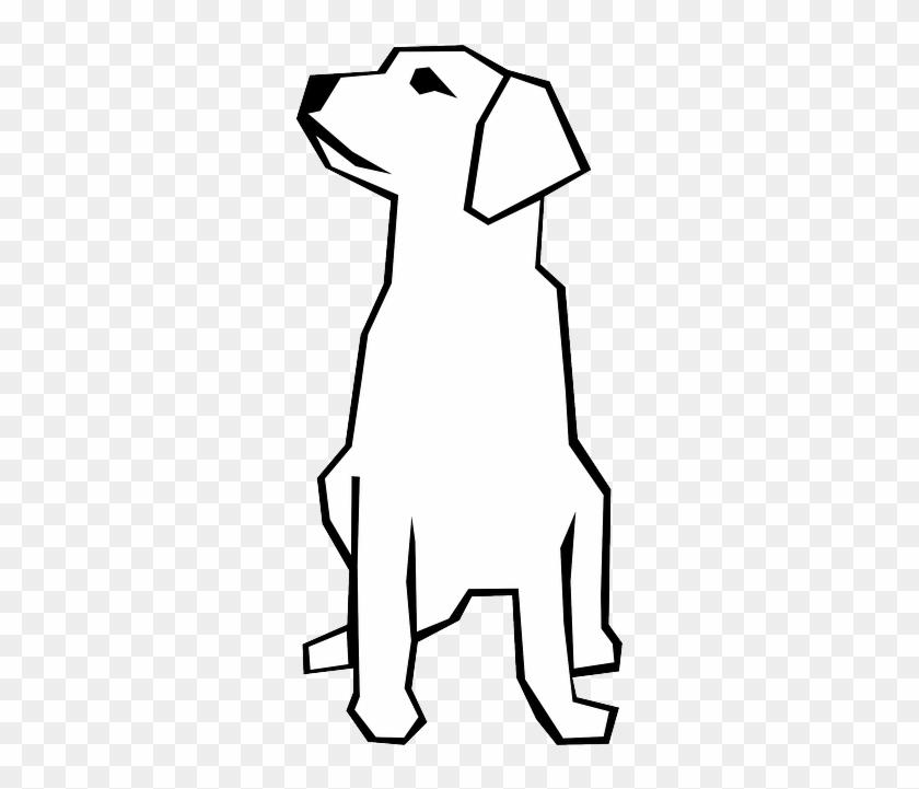 drawn dog straight lines pet animal mammal lab dog simple
