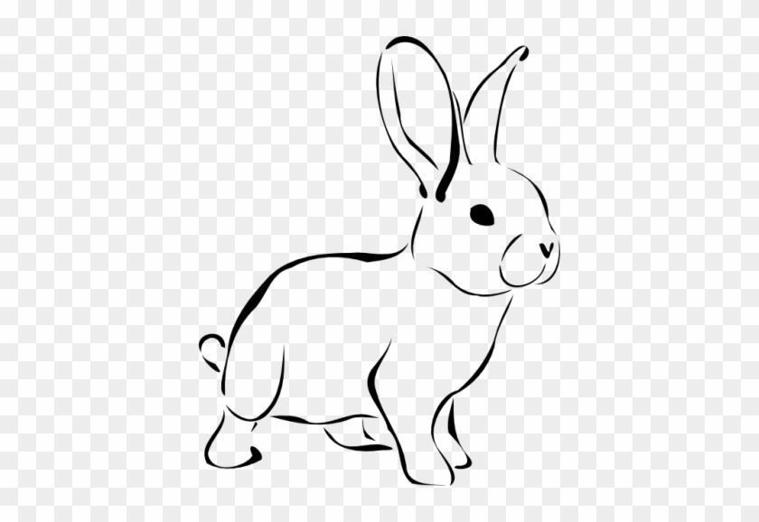 Rabbit Clip Art Images Free Clipart Images - Rabbit Clip Art Black And White #840298