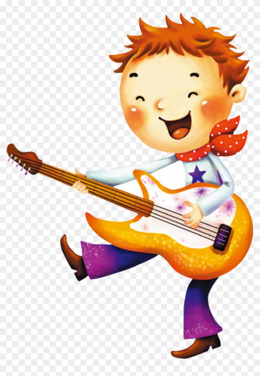 South Korea Cartoon Illustration Boy And Girl Play Music Cartoon Png Free Transparent Png Clipart Images Download