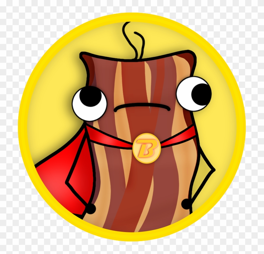 Captain Bacon By Owlwishes-oak - Cartoon Bacon #841564