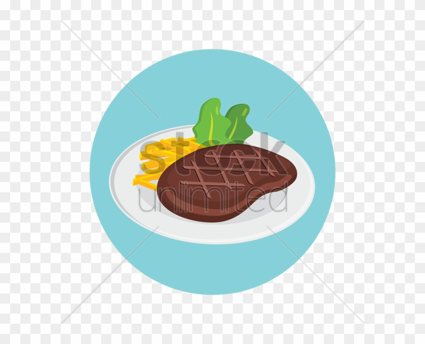 Steak With Fries Clipart - Steak And Fries Clipart #843264