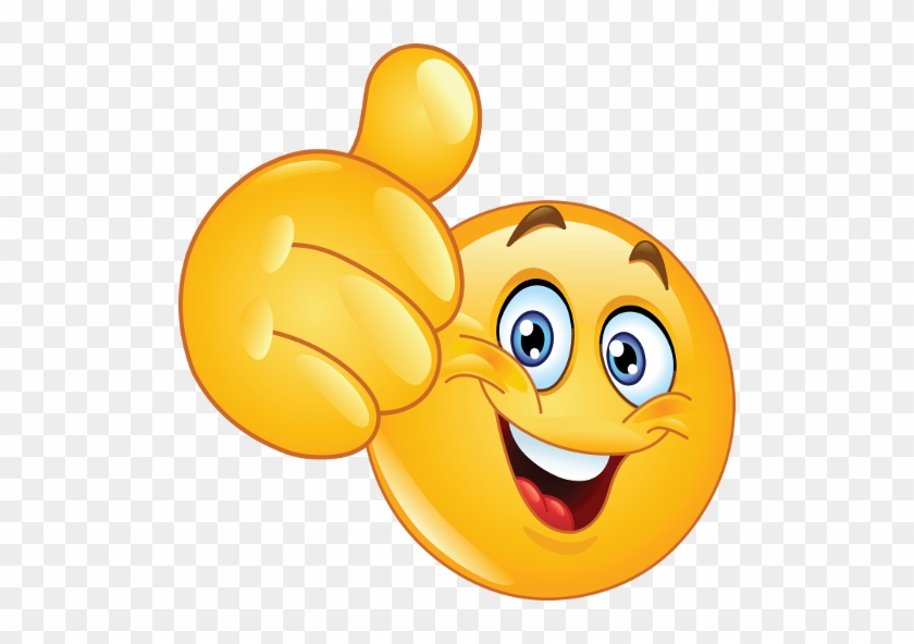 Amazed Face Clipart - Smiley Face Thumbs Up #843441