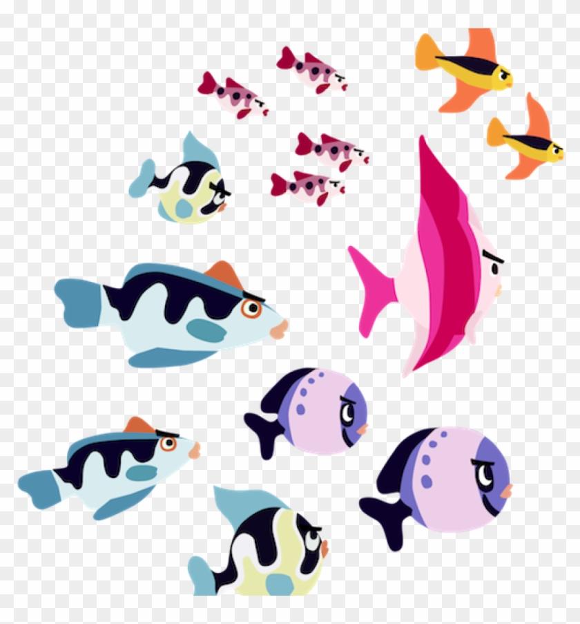 School Of Fish Clipart School Of Fish Png Transparent - Fish #844503