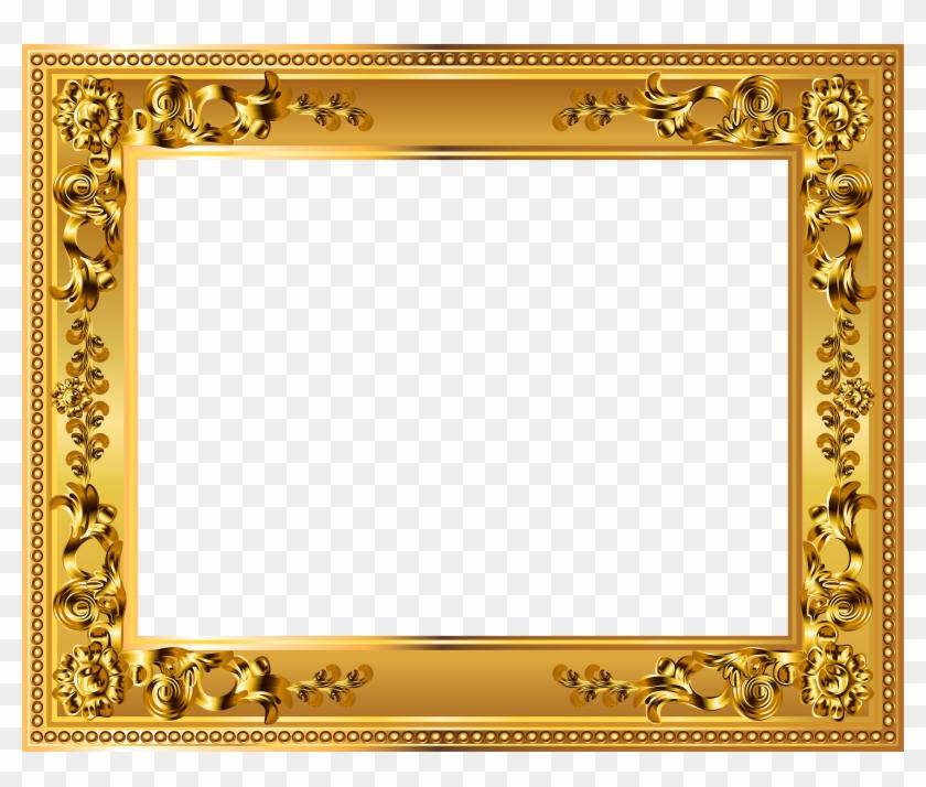 Gold Deco Border Frame Transparent Png Image - Gold Frame Border Png ...