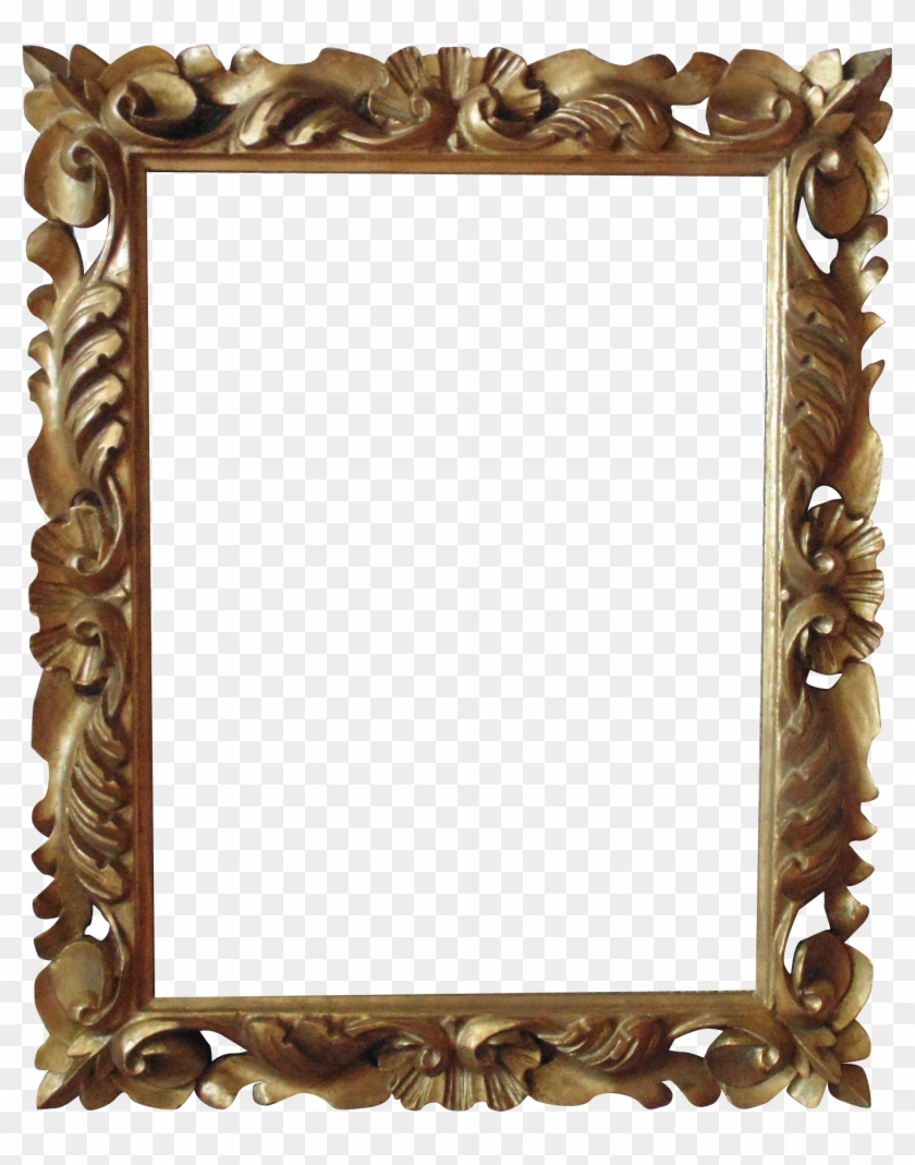 Italian Carved Wood Picture Frame For Print Painting - Wooden Mirror ...