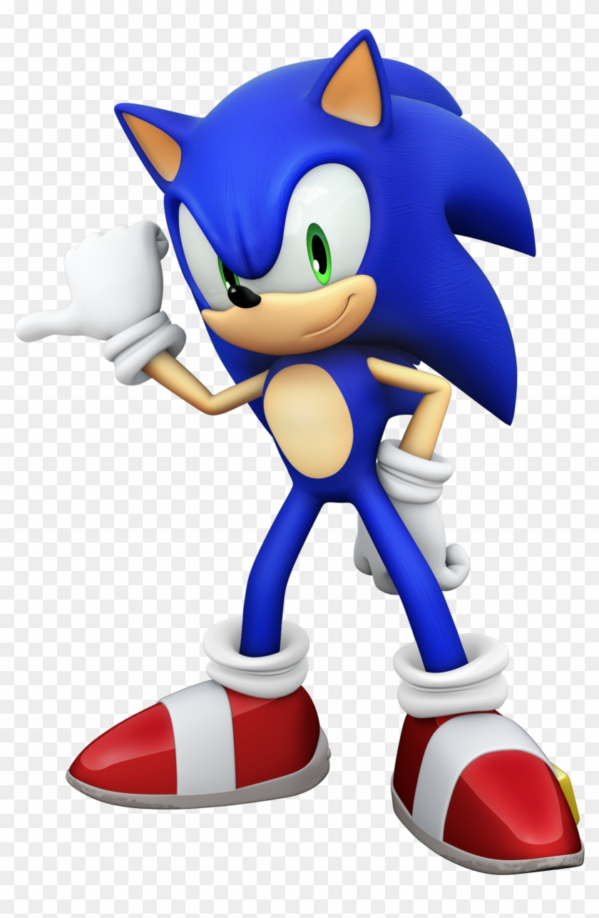 Sonic Pointing To His Right While Sonic The Hedgehog Pointing Free Transparent Png Clipart Images Download