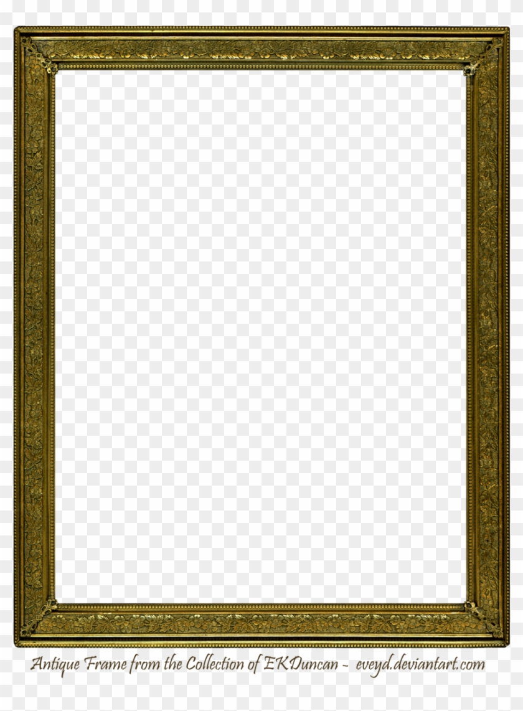 Antique Gold Vintage Frame 1 By Ekduncan By Eveyd - Square Picture Frame Png #845537