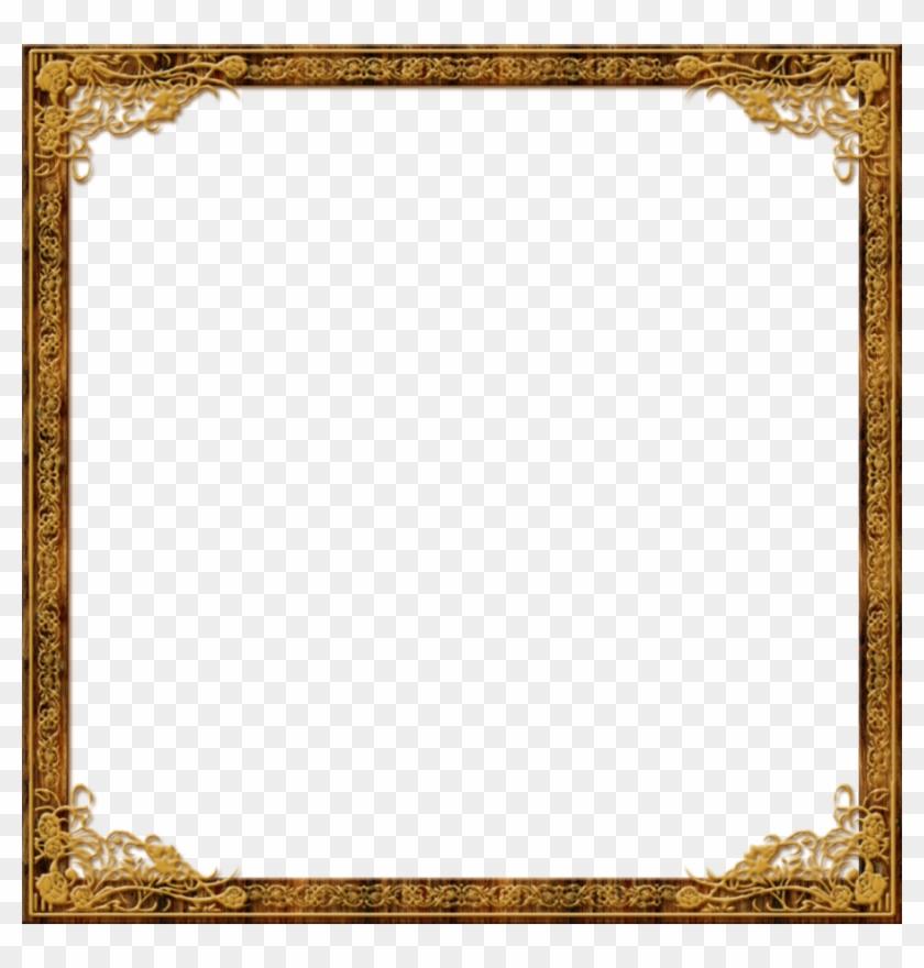 Gold Frame Borders Roses - Gold Frame Border Square #845599