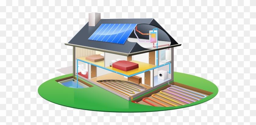 Energy Clipart Solar Water Heater Maison Ecologique Panneau Solaire Free Transparent Png Clipart Images Download