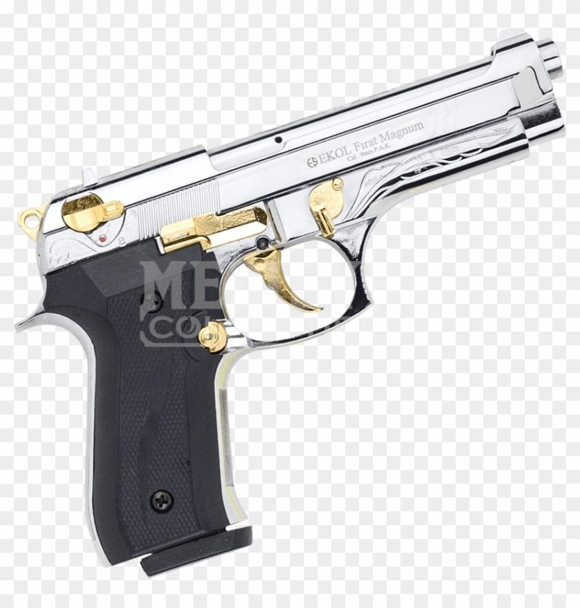Nickel Firat Magnum 92 Blank Firing Pistol